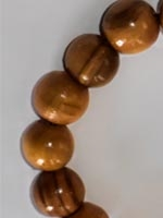 Olive wood small bead round
